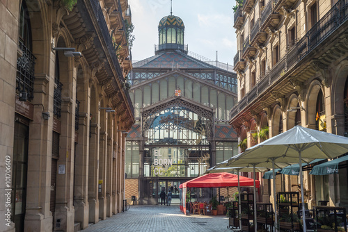 Foto op Canvas Barcelona View to Mercat del Born in the Barcelona district La Ribera is a former public market and one of the famous buildings, constructed with iron, in Barcelona