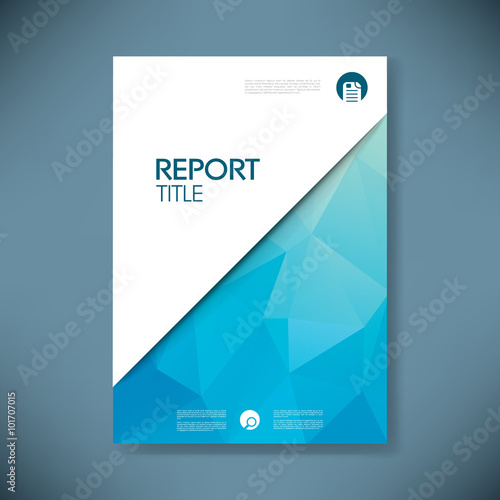 Photo  Business report cover with low poly design vector background