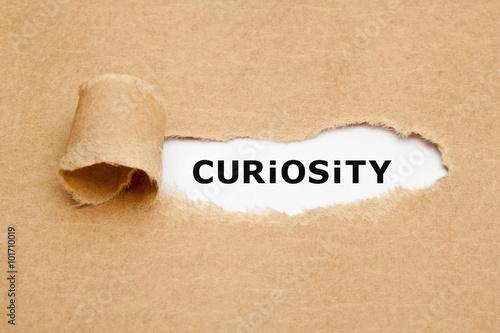 Fotografía  Curiosity Torn Paper Concept