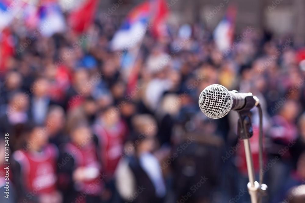 Fototapety, obrazy: Public demonstration. Protest.