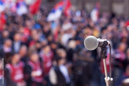 Fototapeta Public demonstration. Protest.  obraz