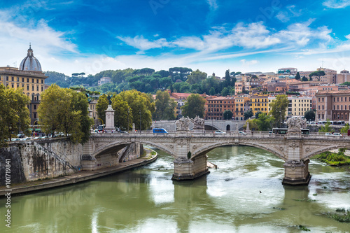 Foto op Aluminium Rome View above Rome and Tiber in Rome