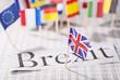 Leinwanddruck Bild - Austritt Großbritanniens aus der EU