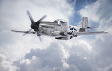 World War II Era Fighter Flies...
