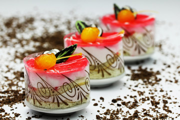 Fototapeta Do herbaciarni ciasta i ciasteczka