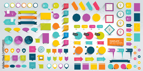 Fotografía  Collections of infographics flat design elements