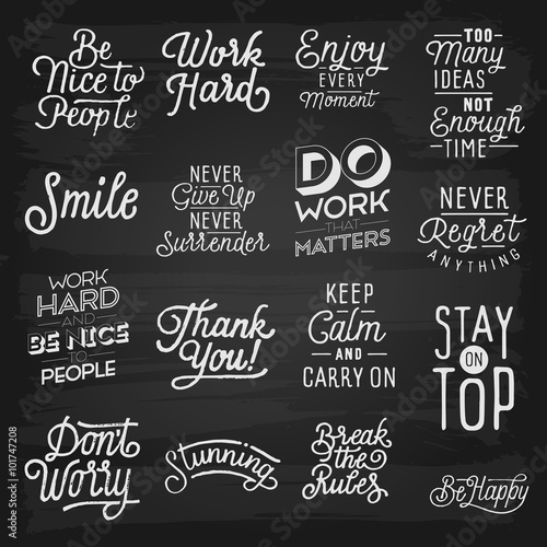 Photo  Hand drawn lettering slogans