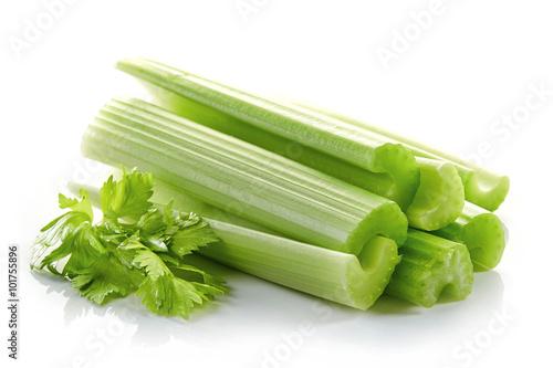 green celery sticks and leaf
