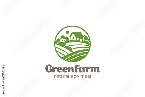 Farm logo design psd templates