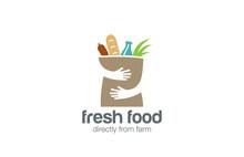 Food Shopping Logo Design. Han...