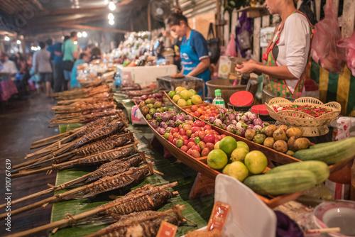 Canvas Prints Assortment Street food in Luang Prabang, Laos