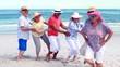 Senior friends dancing