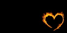 Composite Image Of Heart In Fire