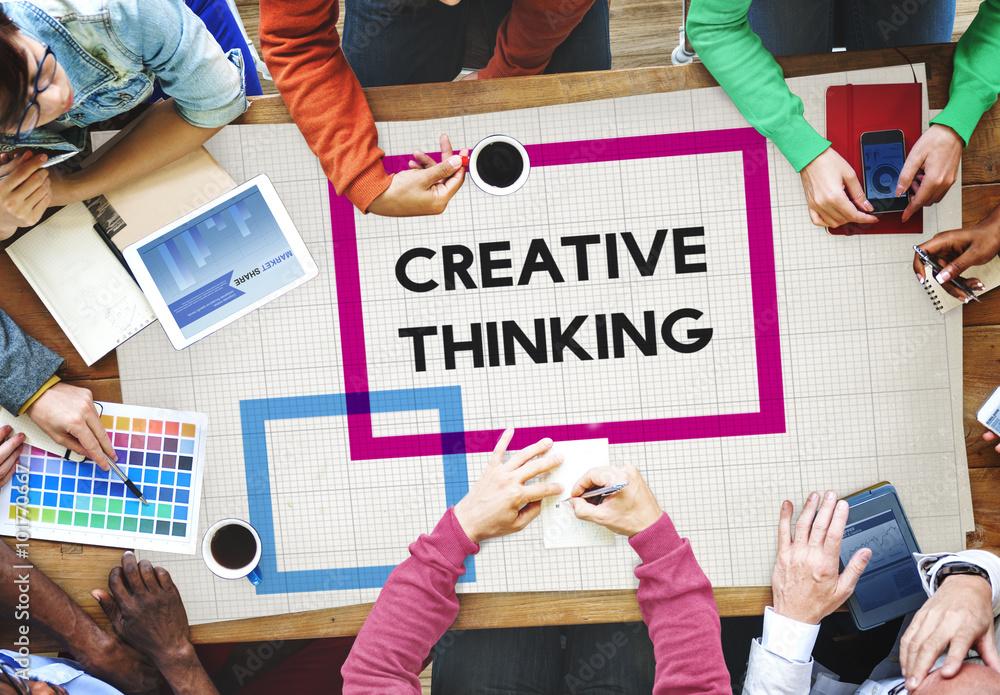 Fototapety, obrazy: Creative Thinking ideas Imagination Innovation Inspiration Conce