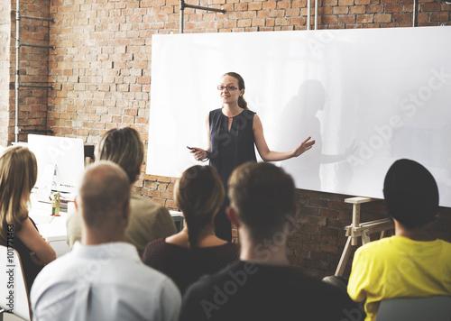Business Team Training Listening Meeting Concept Fototapeta