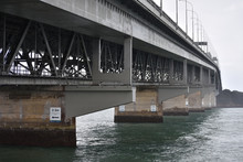The Underside Of Harbour Bridge In Auckland.