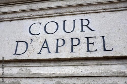 Cour d'appel Fototapet