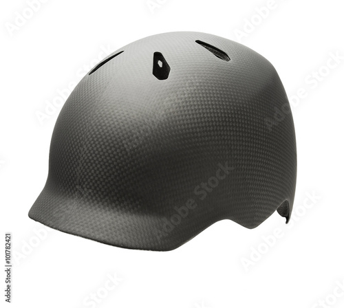 Canvas Prints Cycling motor cycle helmet isolated on white