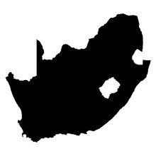 South Africa On White Background Vector