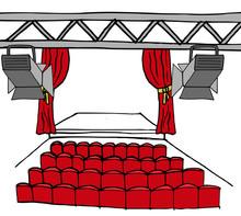 Lege Theater Zaal En Podium