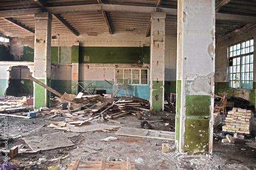 Staande foto Industrial geb. Abandoned industrial complex. Kiev, Ukraine