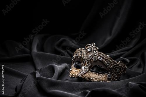 Fotografie, Obraz  Brown carnival mask