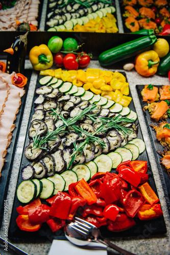 Foto op Plexiglas Japan Catering und Buffet an einer Hochzeit