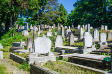 Old Evangelical Cemetery In Sighisoara, Romania.