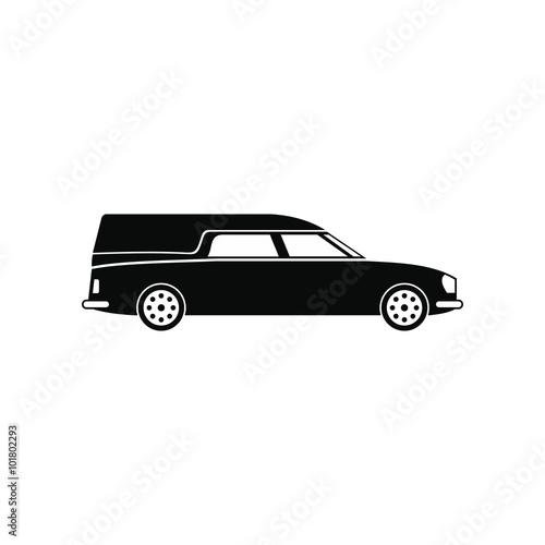 Photo  Hearse car black simple icon