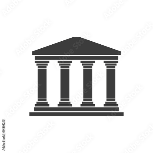 Fotografía Greek temple on a white background flat design