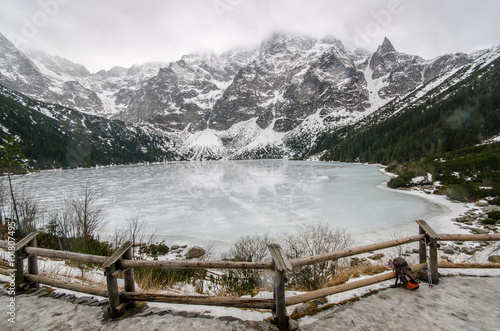 Fototapeta Zimowy szlak na Rysy ,Tatry Wysokie Polska, obraz