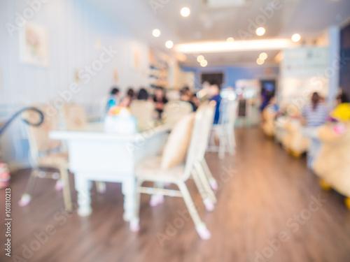 Keuken foto achterwand New York Blurred background of coffee shop