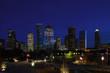 Houston, Texas skyline on a clear night