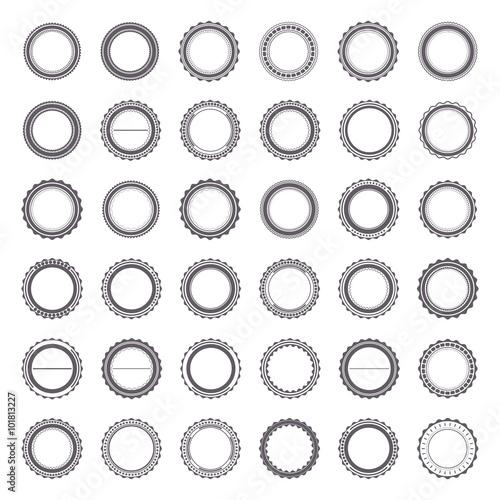 Photo  Set of emblems, vector illustration.