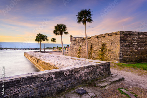 Photo sur Aluminium Fortification St. Augustine Florida Fort.