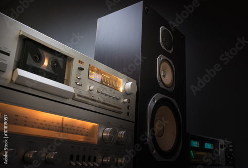 Fotografía  audio stereo rack
