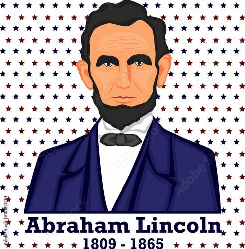 Fotografia  Silhouette Abraham Lincoln