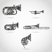 Set Of Brass Instruments For O...