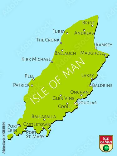 Photo  Map of Isle of Man