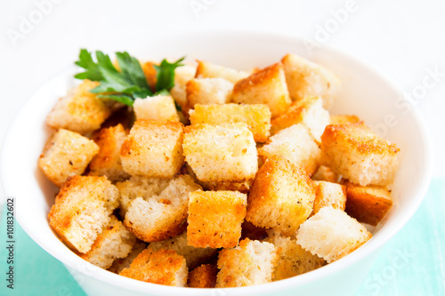 Fotografía  Homemade french croutons