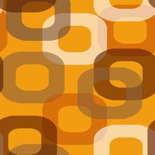 Seamless Retro Orange Pattern