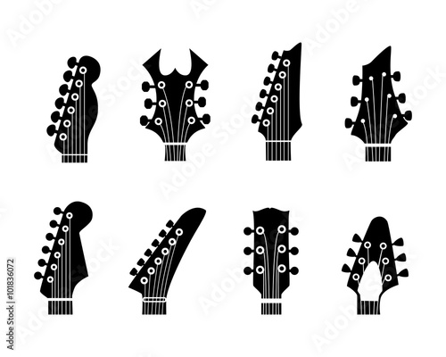 silhouettes guitars Canvas Print