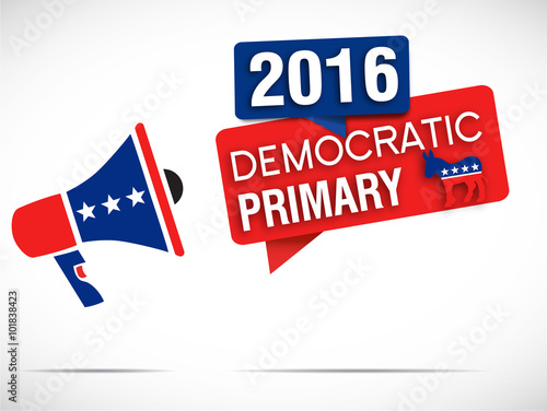 megaphone : democratic primary 2016 Fototapet