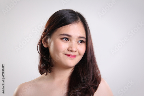 Fotografía  Asian girl natural beauty closeup portrait