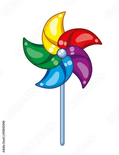 Fotografia, Obraz  Colorful pinwheel.