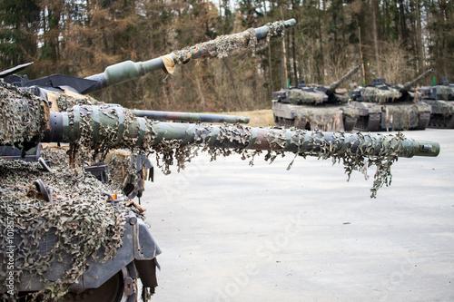 Foto  Kampfpanzer Wartezone