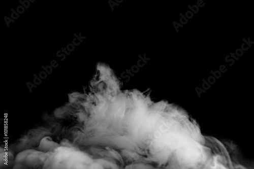 Poster Fumee Movement of smoke on black background