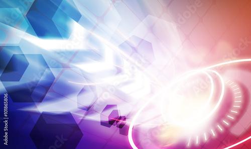 Fotobehang - dot with light background