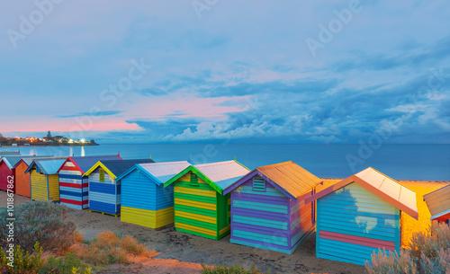 Poster Australie Brighton beach houses Australia