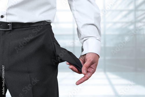 Fotografía  Konkurs - Insolvenz - Pleite - Leere Taschen